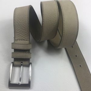 Men's Banana Republic taupe & silver leather belt
